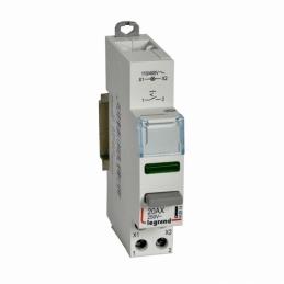 Inter poussoir modulaire double fonction contact 1NO + voyant LED vert 110V~ à 400V~ - 1 module - LEGRAND