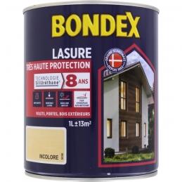 Lasure Très Haute Protection - SiliUréthane - 1 L - Incolore - BONDEX