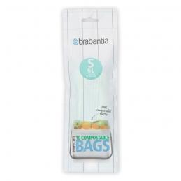 Sacs Poubelle compostable - PerfectFit - 6 litres - 10 sacs - BRABANTIA