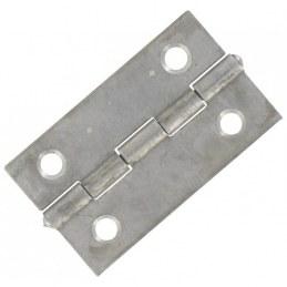 Charnières carrées simple feuille - Acier - 40 x 40 mm - Lot de 50 - JARDINIER MASSARD