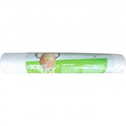 Sac poubelle biodégradable avec lien coulissant - 30 L - Lot de 10 sacs - EMBAL'SAC