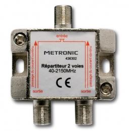 Répartiteur (blindé à connectique F) - 2 sorties - Etanche - METRONIC