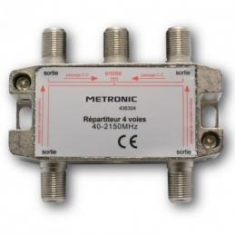 Répartiteur (blindé à connectique F) - 4 sorties - Etanche - METRONIC