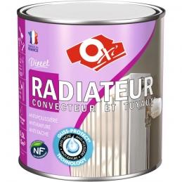 Peinture monocouche - Radiateur / Convecteur et Tuyau - Blanc - Satiné - 0.5 L - OXI