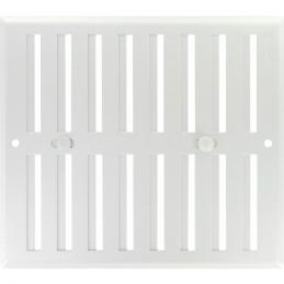 Grille de ventilation obturable - métal - 190 x 165 mm - Aluminium - DMO