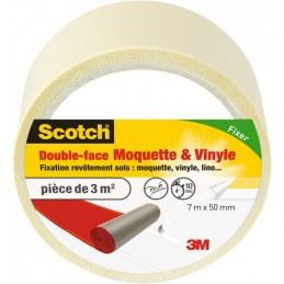 Double face sols moquette et vinyles Scotch - 20 Mètres