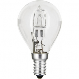 Ampoule halogène ECO - Sphérique - E14 - 42 W - 625 Lumens - DHOME