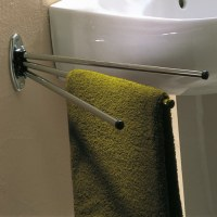 Porte serviette en acier chromé - 3 branches - GODONNIER