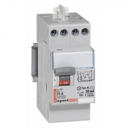 Interrupteur différentiel bipolaire - Type AC 30mA arrivée haut/départ haut 25 A - LEGRAND