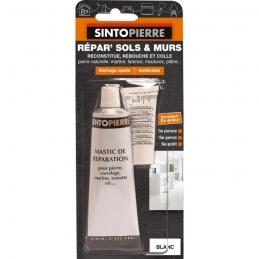 Mastic de réparation pour pierre, carrelage, marbre - Répar' Sols et Murs - Blanc - 100 Grs - SINTO