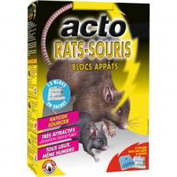 Raticide / Souricide - Blocs appâts - 240 Grs - ACTO