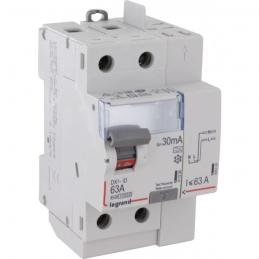 Interrupteur différentiel bipolaire - Type A 30 mA arrivée haut/départ haut 63 A - LEGRAND