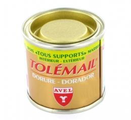 Peinture de décoration - Tolemail Dorure - Or riche - 50 ml - AVEL