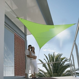 Voile d'ombrage triangulaire - First - 3 M - Vert Pomme - JARDILINE