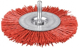 Brosse abrasive circulaire - Rouge - Nylon - 75 mm - SCID