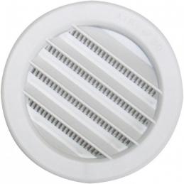 Grille de ventilation universelle à encastrer - Plastique - Ronde - 80 mm - DMO