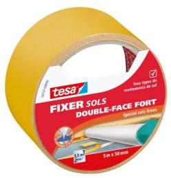 Adhésif double face pour fixation sols, rouleau de 50 mm x5 m