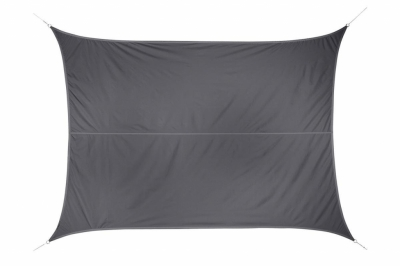 Voile d'ombrage rectangulaire Curacao - Gris - 3 x 4 M - HESPERIDE