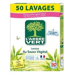 Lessive en poudre - Au Bicarbonate de Sodium - 50 lavages - 2.5 Kg - L'ARBRE VERT