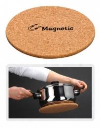 Dessous de plat rond - Magnétique - 21.5 cm - Liège