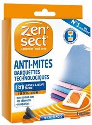 Barquettes Anti-Mites - Sans parfum - 6 Mois - 8 barquettes - ZEN'TECH