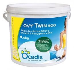 Chlore stabilisé enrichi en oxygène actif - Ovy'Twin 500 - 4.5 Kg - OCEDIS