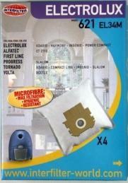 Sacs en microfibre adaptables - 621 EL34M - 4 sacs - INTERFILTER