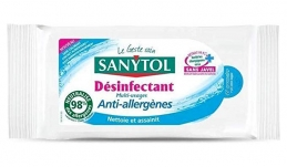 Lingettes désinfectantes multi-usages - Anti-allergènes - 48 Lingettes - SANYTOL