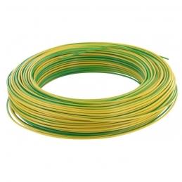 Câble d'installation H07V-U 1.5 mm² - 100 M - Vert / Jaune - ELECTRALINE