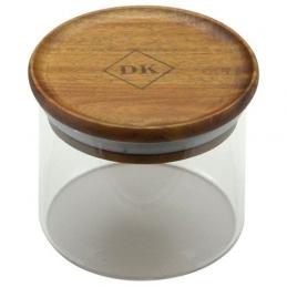 Bocal en verre Kost - Couvercle bois d'Acacia - 300 ml - POINT VIRGULE