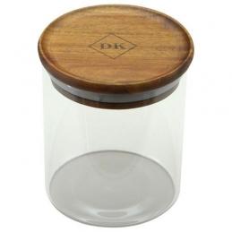 Bocal en verre Kost - Couvercle bois d'Acacia - 450 ml - POINT VIRGULE