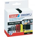 Bande Extra Strong Velcro - Noir - 1 m x 50 mm - TESA