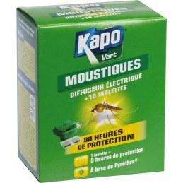 Émanateur électriques anti-moustiques + 10 tablettes - KAPO