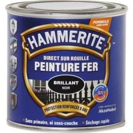 Peinture Fer Direct sur rouille Mat - Noir - 250 ml - HAMMERITE