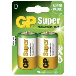 2 Piles alcaline - Super - D-pile, 13A/LR20 - GP
