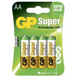 4 Piles alcaline - Super - AA-pile, 15A/LR6 - GP