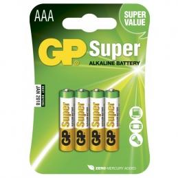 4 Piles alcaline - Super - AAA-pile, 24A/LR03 - GP