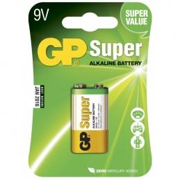 Pile alcaline - Super - 9V-pile, 1604A/6LF22 - GP