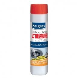 Déboucheur microbilles express pour canalisations - Soude - 500 Grs - STARWAX