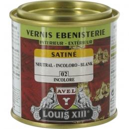 Vernis ébénisterie - Satiné - Incolore - 125 ml - AVEL