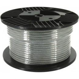 Bobine de 40 m de câble acier gainé PVC - Ø3 mm