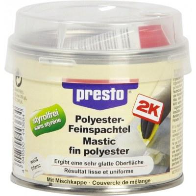 Mastic polyester fin - 250 Grs - Blanc - PRESTO