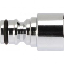 Nez de robinet - Brise jet - Laiton nickelé - Femelle - CAP VERT