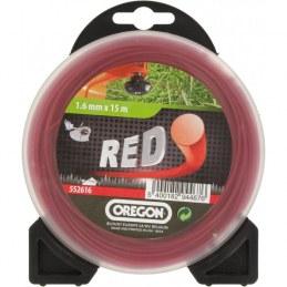 Fil rond pour débrousailleuse - Nylon - RED- 1.6 mm x 15 M - OREGON