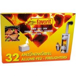 Allume feu barbecue et cheminée - Lot de 32- FAVORIT