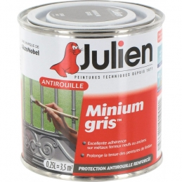 Primaire antirouille - Minium Gris - Protection anti-corrosion durable - 250 ml - JULIEN