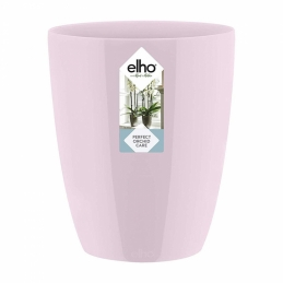 Pot haut spécial orchidée - Brussels - H 12.5 cm - Rose clair - ELHO