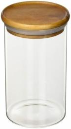 Bocal en verre Kost - Couvercle bois d'Acacia - 700 ml - POINT VIRGULE