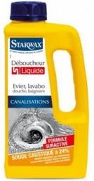 Déboucheur canalisation liquide - Soude - 1 L - STARWAX