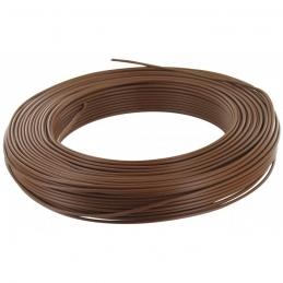 Câble d'installation H07V-U 2.5 mm² - 100 M - Marron - ELECTRALINE